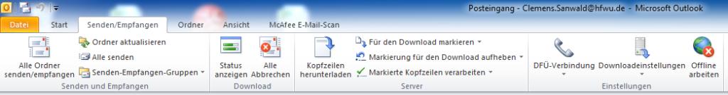 Outlook Offline schalten - Serienmail mit Outlook und Word 2010