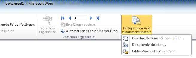 E-Mail Nachrichten senden Word - Serienmail mit Outlook und Word 2010