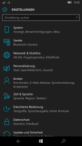 Windows Mobile Einstellungen - Apps auf SD