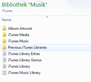 Itunes Bibliothek - Playlisten