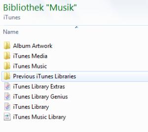 Itunes Bibliothek - Playlisten