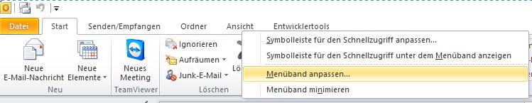 menueband_outlook ordner suche
