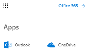 Outlook App Office 365 Menü